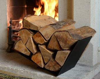 Fireplace Log Holder Etsy