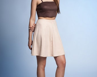 727f34133 Faux Suede Skirt. 14 colors available.