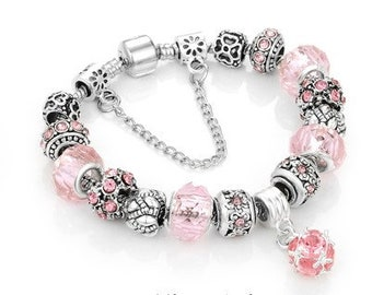 e6db07598 Charm Beads Pandora style Bracelet