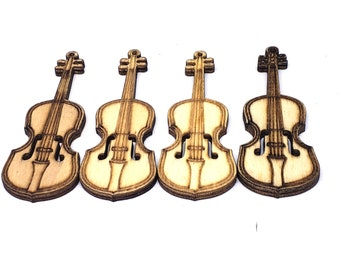 Violin Laser Cutout; DIY Crafts Multiple Size Options 3546 Decor /& Gifts