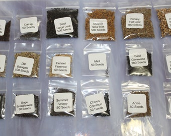 Culinary Herb Collection Kit- 18 Most Popular Herb Seed Varieties In One Price