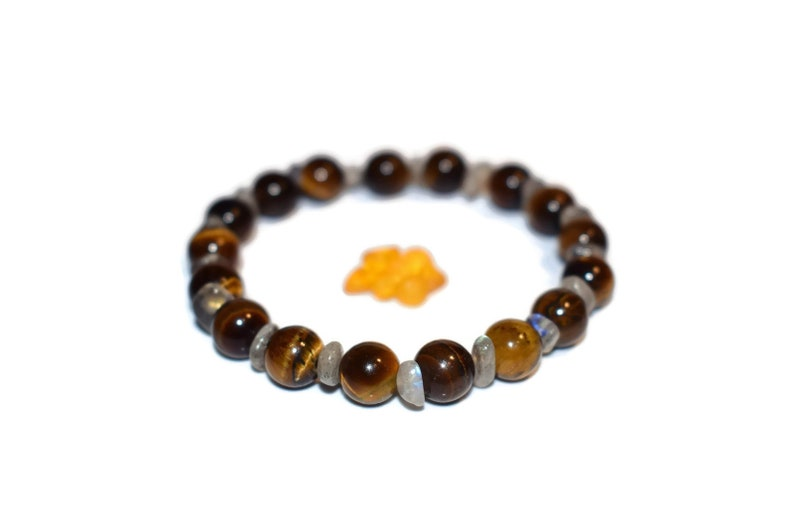 Labradorite Spectrolite /& Tiger/'s Eye Handmade Bracelet Nordic Made in Norway