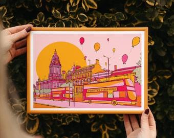 Leeds Positivity Art Print