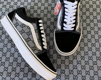 Custom Black Side Gucci GG Old Skool Vans 8ff161070