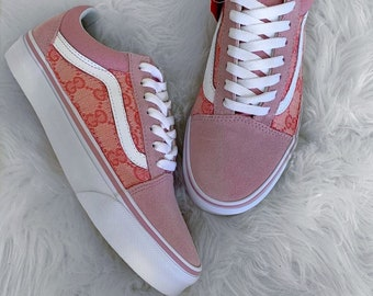 6c17de406d4 Custom Pink Side Gucci GG Old Skool Vans