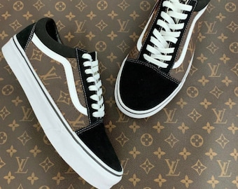 07e4817a7b8b Custom Brown LV Black Old Skool Vans