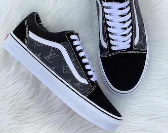 fd0726e0c670d Custom Grey Black LV Old Skool Vans