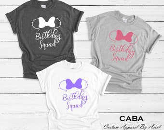 Disney Birthday Shirt Shirts Women Squad