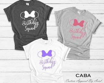 Disney Birthday Shirt Shirts Women Squad