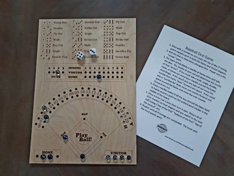 Dice and Marbles Baseball Board Game image 0