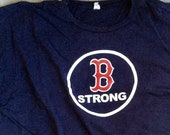 Vintage Lightly Used MLB Boston Red Sox quot Boston Strong quot Text Logo Short Sleeve T-Shirt Size XXL (Extra Extra Large) Anvil Brand 100 Cotton