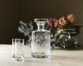 Vintage Bohemia Crystal Decanter Set Czechoslovakia