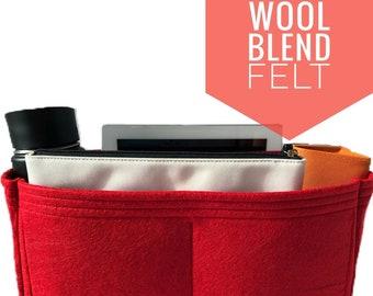 a7eef5cbbf LV Speedy Purse Organizer 25 30 35 40 - Organize Louis Vuitton Speedy with  Multi-Pocket Purse Insert - Wool Felt Bag Organiser