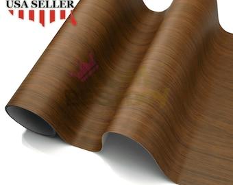 "4/""x8/"" Sample Wood Grain Vinyl Wrap Sticker Car Home Kitchen Decoration DIY #1536"