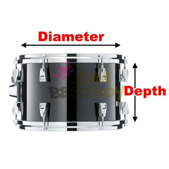 Drum Wrap Vinyl Kit Gloss Glossy For Snare Kick Bass Tom WMP Shell Skin Sticker