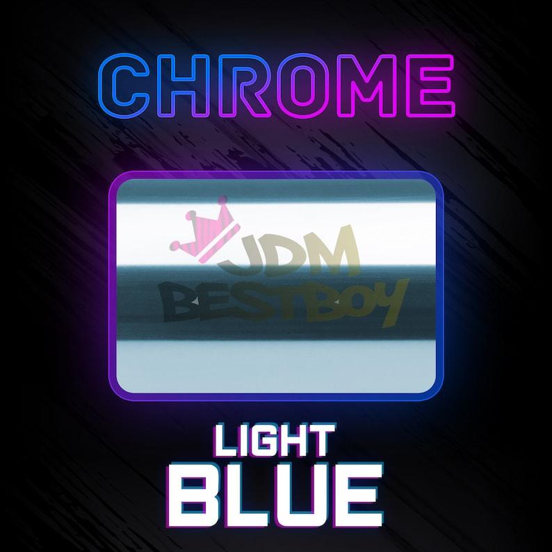 ESSMO\u2122 Light Blue Chrome Heat Transfer Vinyl HTV Easy To Weed Sheet Roll T-Shirt 20 Wide Iron On Heat Press DS20