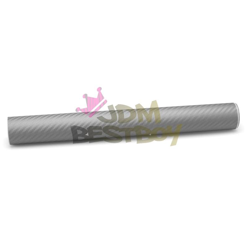 Premium 3D Gray Matte Carbon Fiber Vinyl Wrap For Car Sticker Decal W/ Air  Release Bubble Free Technology