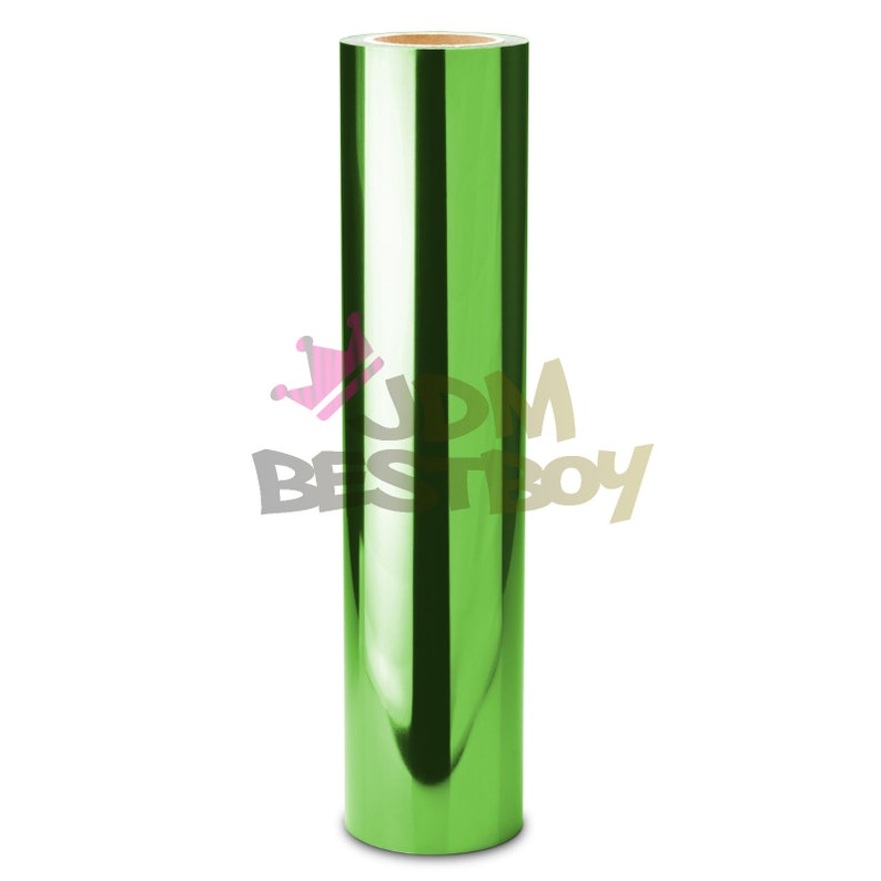 ESSMO\u2122 Green Chrome Heat Transfer Vinyl HTV Easy To Weed Sheet Roll T-Shirt 20 Wide Iron On Heat Press DS17