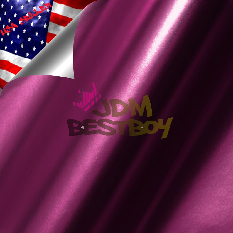 Magenta Purple Anodized Chrome Metallic Matte Car Vinyl Wrap Sticker Decal Air Bubble Free