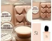 ARMANI SI Wax Melts, Perfume Soy Wax Melts, Wax pots, Wax Bars, perfume wax melts, UK Wax Melts, Cassis and Black Vanilla