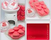 RUSH perfume Wax Melts. Soy Wax Melts,Heart Clamshells or Pots, Soy Wax Melts, Strong Wax Melts Wax Tarts Red Rush