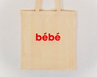 Bébé Tote Bag (available in red and black)