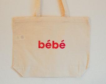 LARGE Bébé Tote Bag (Red)
