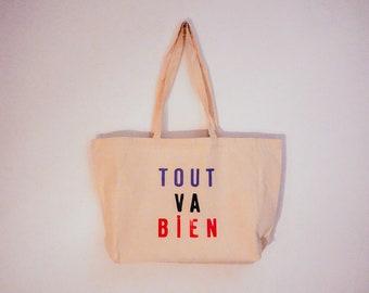 Large Tout Va Bien (Jean-Luc Godard) Tote Bag