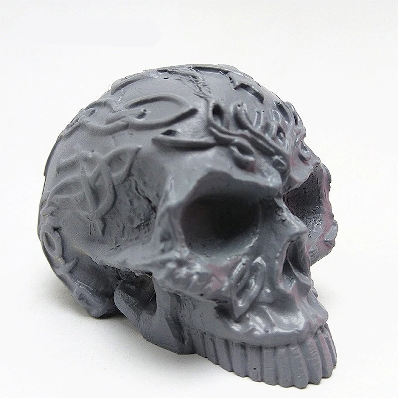 Resin Cake Decoration 3D Skull Silicone Mold Skeleton for Fondant Candle Chocolate Concrete Polymer Clay Soap