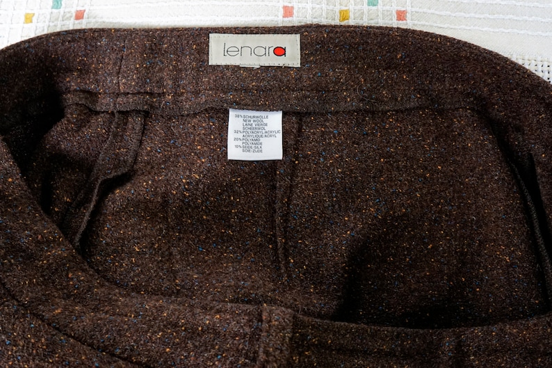 well preserved brown worn Trouser suit with classic Marlene pants