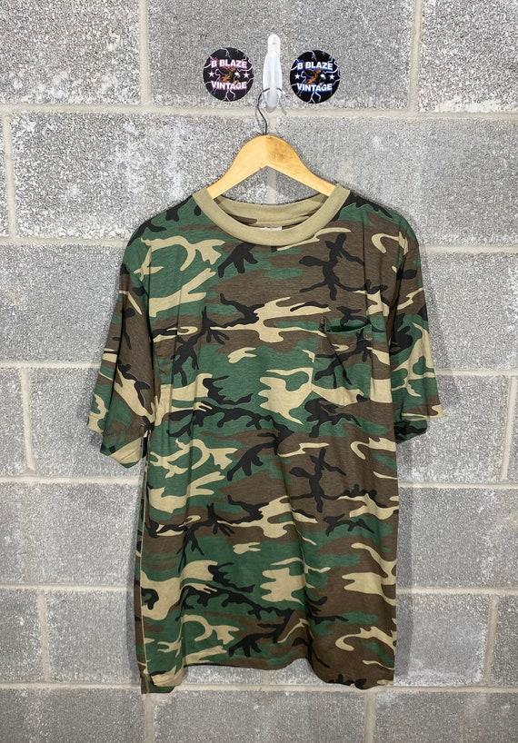 Vintage 1990s All Over Print Camouflage Single Sti