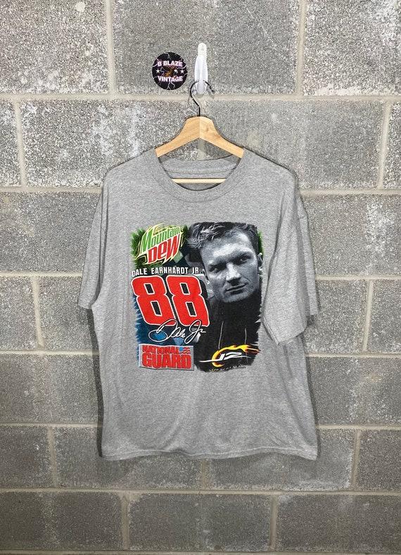 Bud Racing NASCAR Navy Blue Graphic T-Shirt Vintage Y2K 2000s Dale Earnhardt Jr