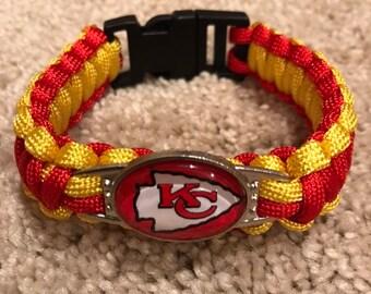 Kansas City Chiefs NFL Charm Bracelet Military Grade 550 Paracord 2dd879c6e