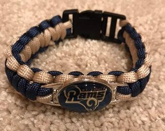 St Louis Rams NFL Charm Bracelet Military Grade 550 Paracord c7b42d272