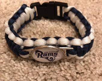 Los Angeles Rams NFL Charm Bracelet Military Grade 550 Paracord 5f0e74cc0