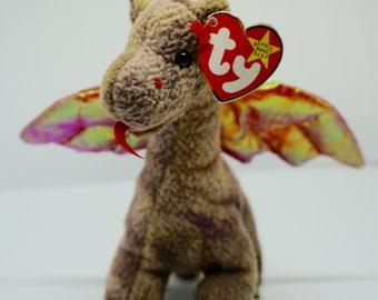 RARE Scorch Beanie  Original  Baby w  Wings   Tag Error - RETIRED 9334d8e875e
