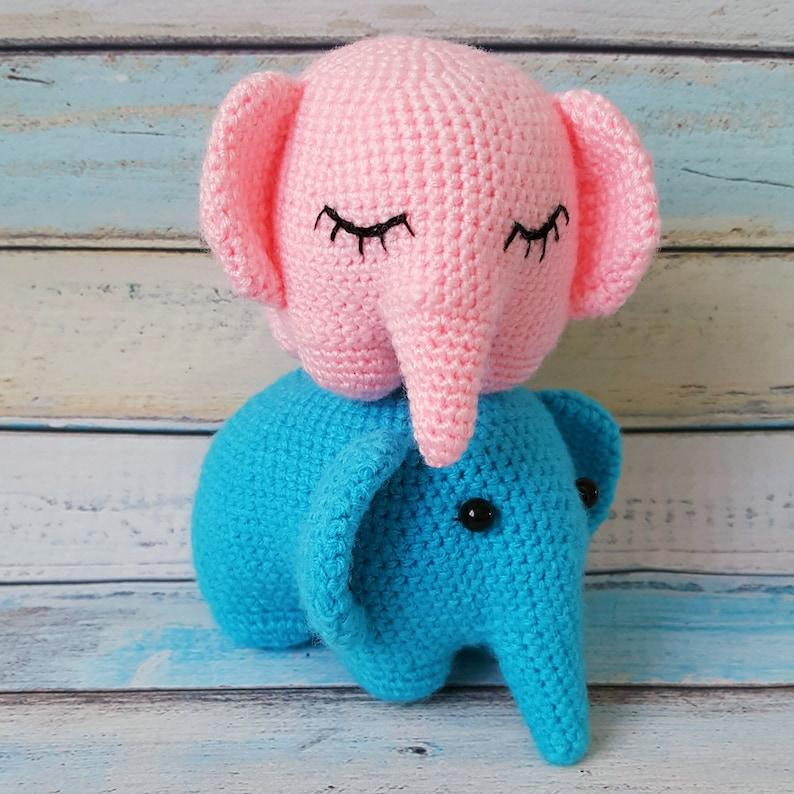 Crochet Pink Elephant Amigurumi Free Pattern | 794x794