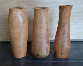 wooden flower decorative vase gift Wood pedestal father/'s day FREE SHIPPING mother/'s day