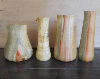 Flame Spalted Box Elder Bud Vase