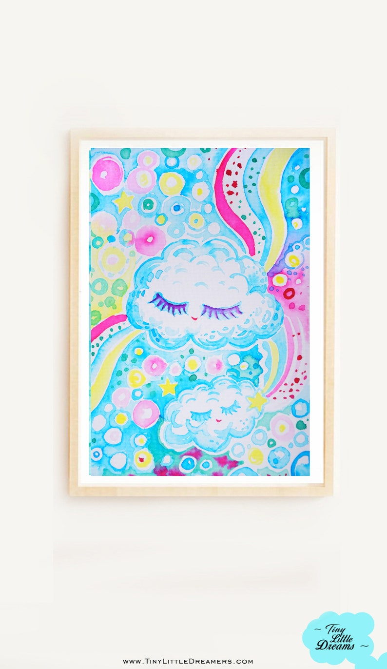 Digital: Rainbow Bubble Cuties  Cloud Gecko Hummingbird image 0