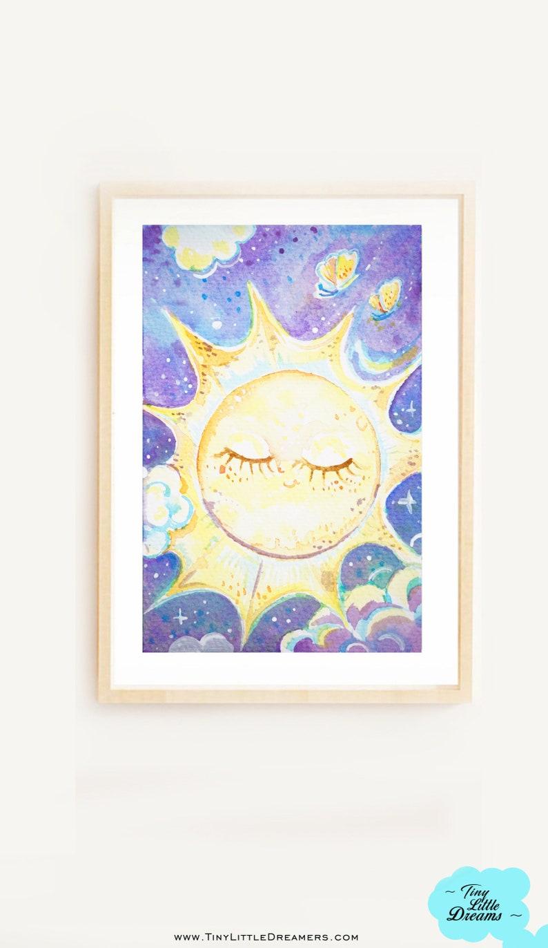 Sun Space Cutie Printable Digital Download Nursery Baby Space image 0