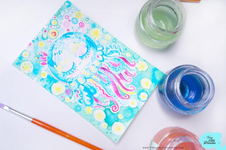 Original: Jelly Fish Rainbow Bubble Cuties  Cloud Gecko image 0