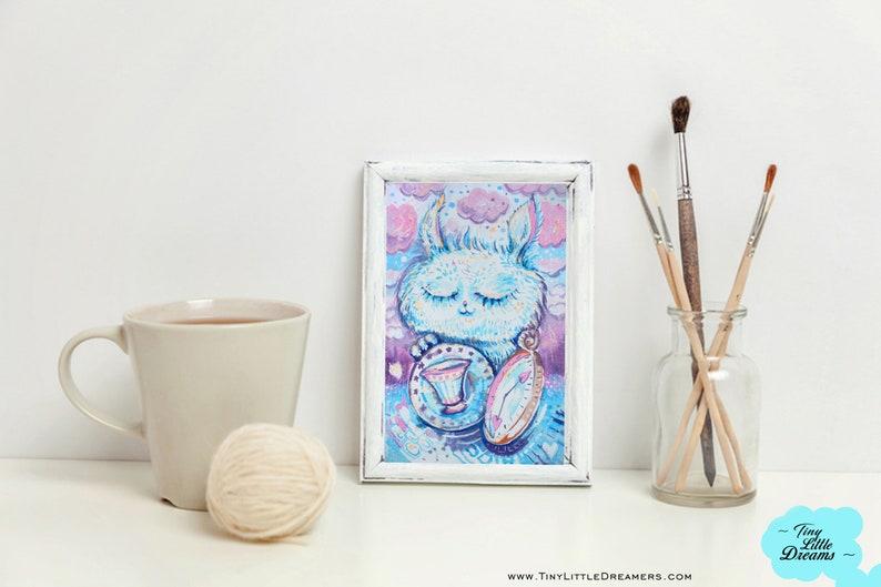 Print: Wonderland Dreamers Bunny Rabbit Print Nursery Wall image 0