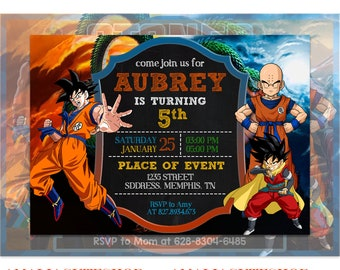 Dragon Ball Z Birthday Invitations Invitation Party DragonBall Super