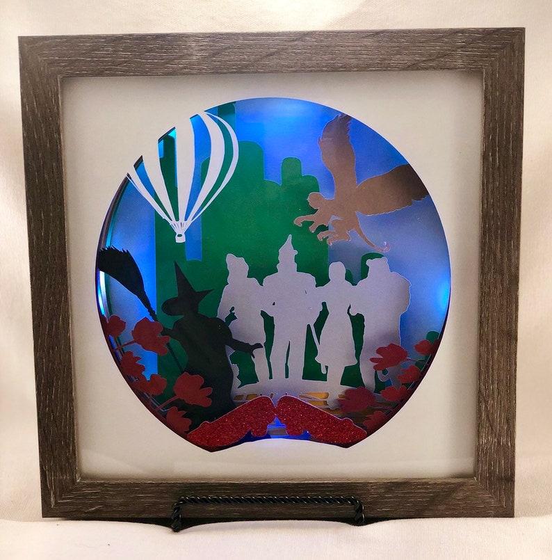 Wizard of Oz 3D Paper Shadow Box Light