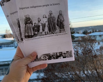 Important indigenous people in history-A zine of photos and stories of Important indigenous peoples.