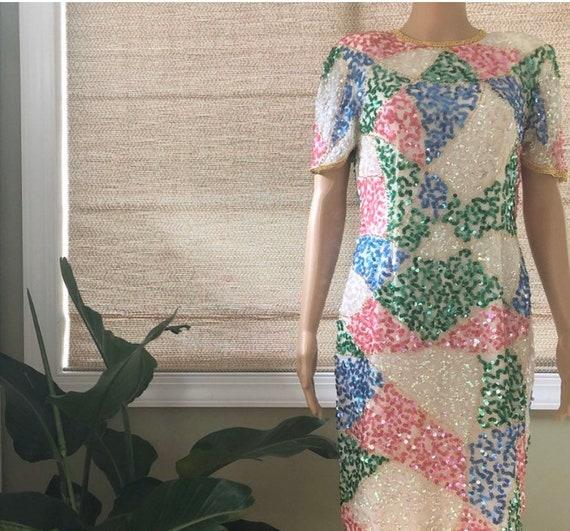 Beautiful Sequins Evening Dress