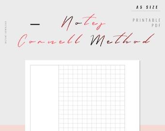 Cornell notes   Etsy