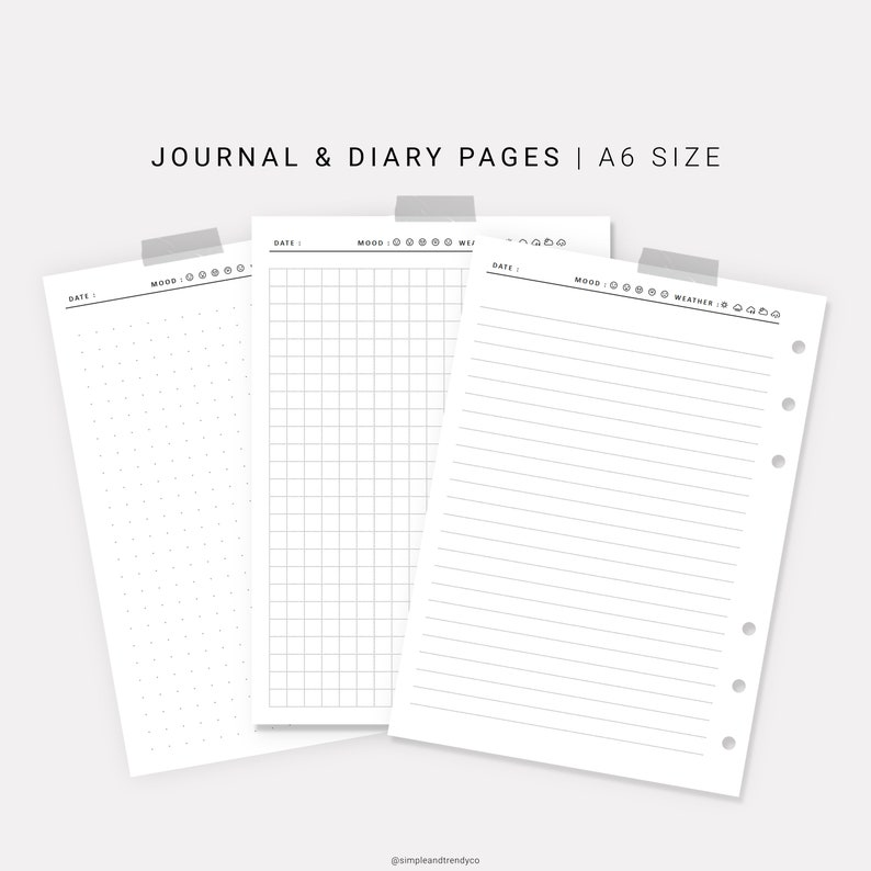 image about Travel Journal Template Printable called Printable Diary Internet pages, Push Magazine A6 Inserts, Producing Magazine Blank Magazine, Generate Diary, Printable Magazine Diary Template