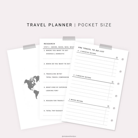 photo regarding Vacation Planning Printable identified as Drive Planner Printable Pocket Measurement, Spouse and children Trip Generate Packing Record, Family vacation Developing Getaway Planner, Holiday vacation Itinerary Family vacation Itinerary